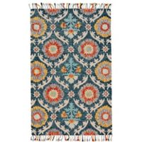 Feizy Bromeliad 2-Foot x 3-Foot Accent Rug in Ocean Blue