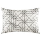 Vera Wang™ Lux Mirror Square Diamond Oblong Throw Pillow in Grey