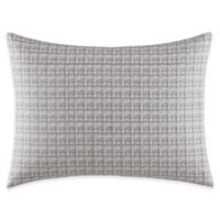 Vera Wang™ Lux Mirror Square Embroidered Oblong Throw Pillow in Grey/White
