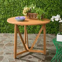 Safavieh Cloverdale Outdoor Table in Teak