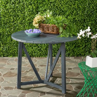 Safavieh Cloverdale Outdoor Table In Ash Grey