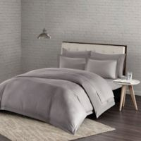 Urban Habitat Comfort Wash Twin/Twin XL Duvet Cover Set in Grey