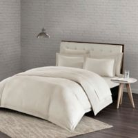 Urban Habitat Comfort Wash Full/Queen Duvet Cover Set in Ivory