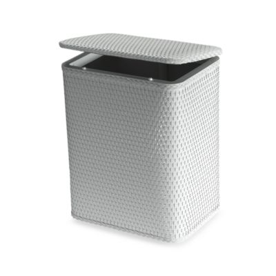Buy wicker bathroom hampers from bed bath beyond - White wicker clothes hamper ...