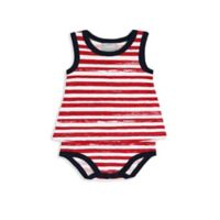 Coccoli Carnival in Venice Size 3M Sleeveless Baby Doll Bodysuit in Red Stripe