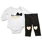 "Baby Aspen Trendy Baby Size 0-6M ""Here Comes Trouble"" 2-Piece Bodysuit and Pant Set"