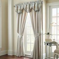 Waterford® Linens Jonet 84-Inch Window Curtain Panel Pair in Cream/Blue