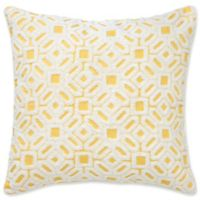 Southern Tide® Kiawah Floral Square Throw Pillow in Yellow