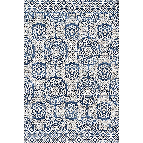 Magnolia Home By Joanna Gaines Lotus Rug In Blue Ivory