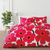 marimekko® Unikko King Duvet Cover Set in Red