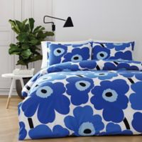 marimekko® Unikko King Duvet Cover Set in Blue