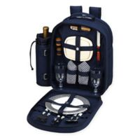 Picnic at Ascot Bold Collection 2-Person Picnic Backpack in Navy