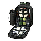 Picnic at Ascot Eco Collection 2-Person Picnic Backpack in Green