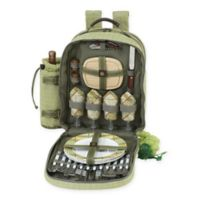 Picnic at Ascot Hamptons Collection 4-Person Picnic Backpack in Olive