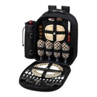 Picnic at Ascot London Collection 4-Person Picnic Backpack in Black