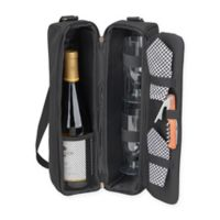 Picnic at Ascot Sunset Wine Tote for 2 with Glasses in Black