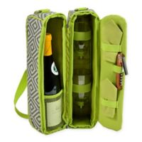Picnic at Ascot Diamond Collection Sunset Wine Tote for 2 in Grey/Granite