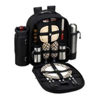Picnic at Ascot London Collection 2-Person Picnic and Coffee Backpack in Black