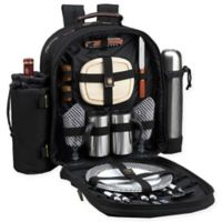 Picnic at Ascot Bold Collection 2-Person Picnic and Coffee Backpack in Bold Black