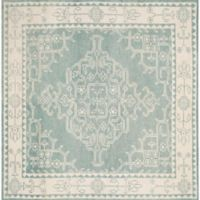 Safavieh Kenya Bordered Floral 7-Foot Square Area Rug in Ivory/Blue