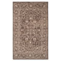 Safavieh Kenya Bordered Tribal 5-Foot x 8-Foot Area Rug in Brown/Beige