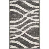 Safavieh Adirondack Curved Lines 2-Foot 6-Inch x 4-Foot Accent Rug in Charcoal/Ivory