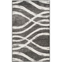 Safavieh Adirondack Curved Lines 3-Foot x 5-Foot Area Rug in Charcoal/Ivory