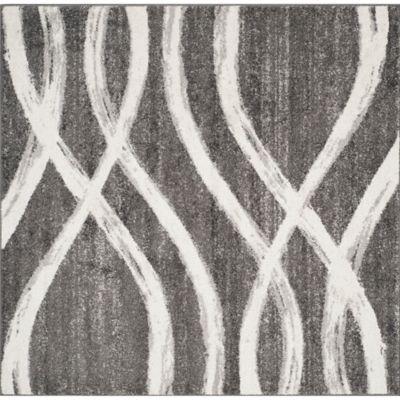 safavieh adirondack curved lines 4foot square area rug in - Square Area Rugs