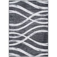 Safavieh Adirondack Curved Lines 4-Foot x 6-Foot Area Rug in Charcoal/Ivory