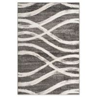 Safavieh Adirondack Curved Lines 5-Foot 1-Inch x 7-Foot 6-Inch Area Rug in Charcoal/Ivory