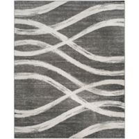 Safavieh Adirondack Curved Lines 8-Foot x 10-Foot Area Rug in Charcoal/Ivory