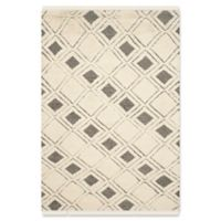Safavieh Kenya Modern Boxes 5-Foot x 8-Foot Area Rug in Ivory/Black