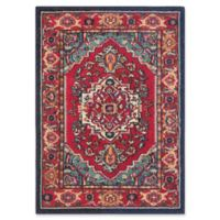 Safavieh Monaco Traditional 2-Foot 2-Inch x 4-Foot Accent Rug in Red/Turquoise
