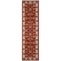 Safavieh Summit Floral Border 2-Foot 3-Inch x 8-Foot Runner in Red/Ivory