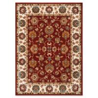 Safavieh Summit Floral Border 5-Foot 1-Area x 7-Foot 6-Inch Area Rug in Red/Ivory