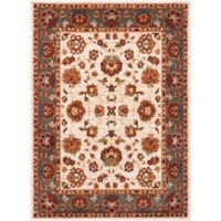 Safavieh Summit Floral Border 6-Foot 7-Inch x 9-Foot 2-Inch Area Rug in Ivory/Grey