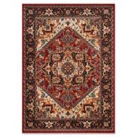 Safavieh Summit Medallion Border 5-Foot 1-Inch x 7-Foot 6-Inch Area Rug in Red/Dark Grey