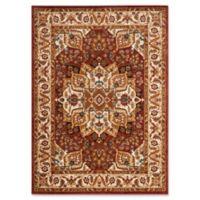 Safavieh Summit Kaleidoscope 8-Foot x 10-Foot Area Rug in Red/Ivory