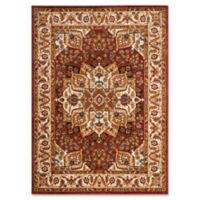 Safavieh Summit Kaleidoscope 9-Foot x 12-Foot Area Rug in Red/Ivory