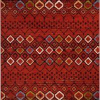 Safavieh Amsterdam Tribal 6-Foot 7-Inch Square Area Rug in Terracotta