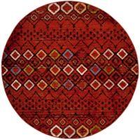 Safavieh Amsterdam Tribal 6-Foot 7-Inch Round Area Rug in Terracotta