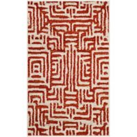 Safavieh Amsterdam Geometric 3-Foot x 5-Foot Area Rug in Terracotta