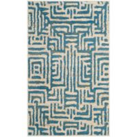 Safavieh Amsterdam Geometric 3-Foot x 5-Foot Area Rug in Light Blue