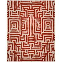 Safavieh Amsterdam Geometric 9-Foot x 12-Foot Area Rug in Terracotta