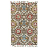 Feizy Bromeliad Brick 8-Foot Round Area Rug in Natural
