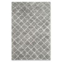 Safavieh Kenya Faded Diamond 8-Foot x 10-Foot Area Rug in Light Grey/Ivory