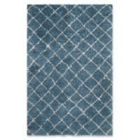 Safavieh Kenya Faded Diamond 8-Foot x 10-Foot Area Rug in Light Blue/Ivory