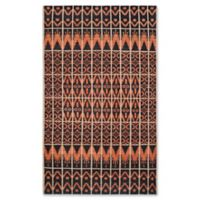 Safavieh Kenya Tribal 5-Foot x 8-Foot Area Rug in Orange/Black