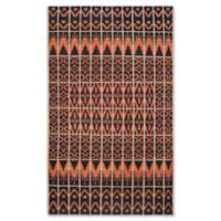Safavieh Kenya Tribal 6-Foot x 9-Foot Area Rug in Orange/Black