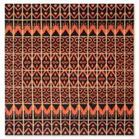 Safavieh Kenya Tribal 7-Foot Square Area Rug in Orange/Black